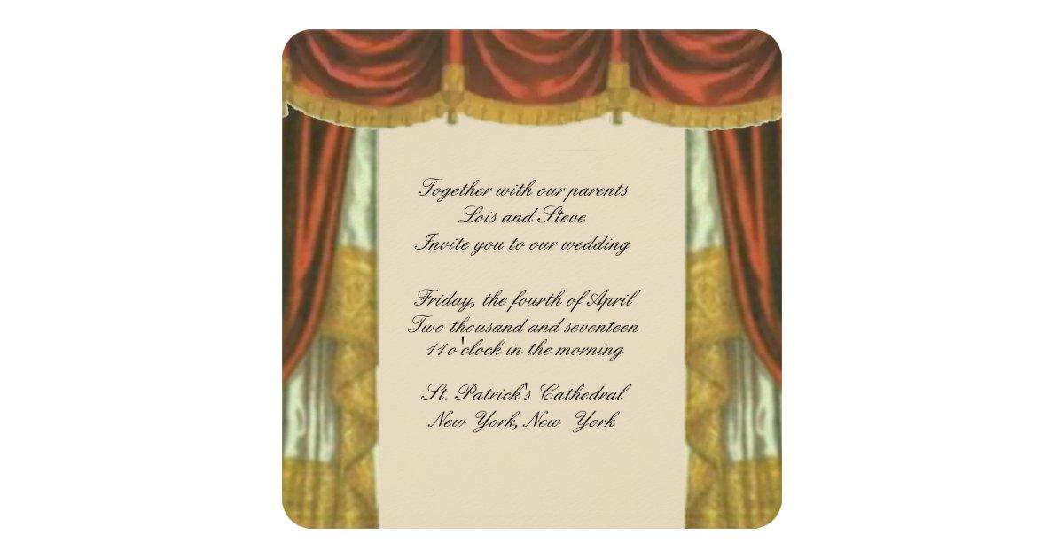 Dorable Theater Karten Hochzeits Einladungen Pattern - FORTSETZUNG ...