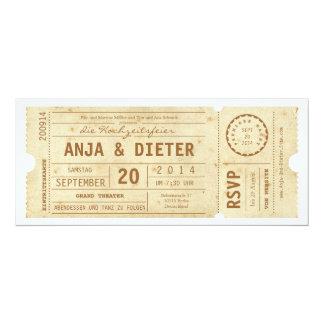Theaterkarte Hochzeitseinladung 10,2 X 23,5 Cm Einladungskarte