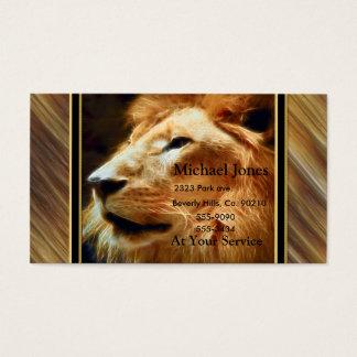 Thee majestätischer Löwe Visitenkarte