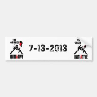 THEGRUNGEINITIATIVE- 2013 PROJETÉ DATE DE CONCERT AUTOCOLLANT DE VOITURE