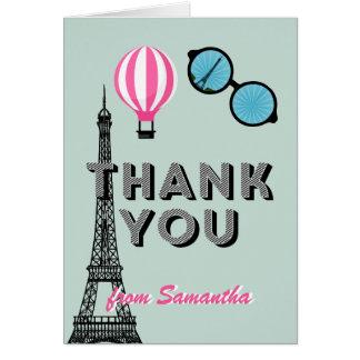 Thema-Geburtstag 16. Geburtstag Paris danken Ihnen Mitteilungskarte