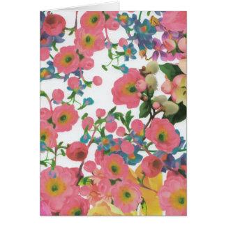 thema-Grußkarte der Vintagen eleganten Blumen Karte