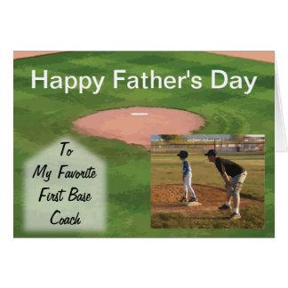 Thème de base-ball de carte de fête des pères