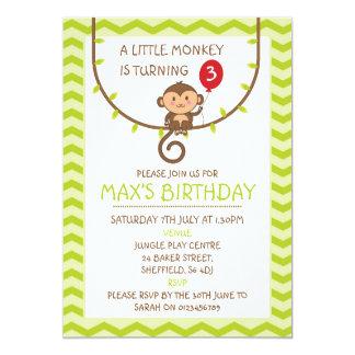 Themed Geburtstags-Party Einladung des Affen