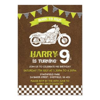 Themed Geburtstags-Party Einladung des Motorrads