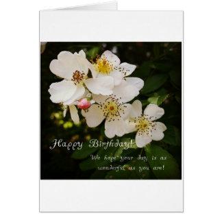 Themenorientierte Geburtstags-mit Blumenkarte Grußkarte