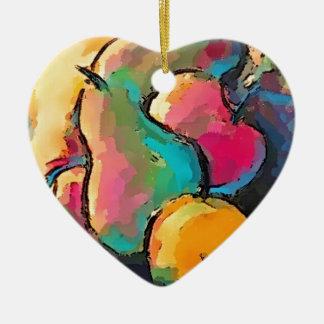 Themenorientierte Geschenke der Frucht Keramik Herz-Ornament