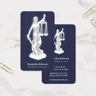 Themis | Rechtsanwalt am Gesetzesmitternachtsblau Visitenkarte