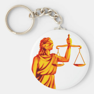 Themis Skalen von Gerechtigkeit Schlüsselanhänger