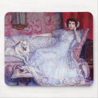Theo Rysselberghe- la femme dans le blanc Tapis De Souris