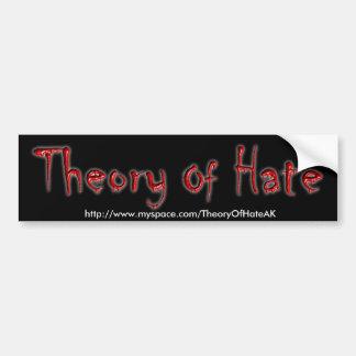 Theorie des Hass-Autoaufklebers Autoaufkleber