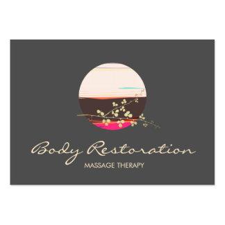 Thérapeute holistique de massage de santé et de carte de visite grand format