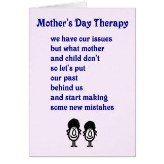 Therapie der Mutter Tages- ein lustiges Gedicht Karte
