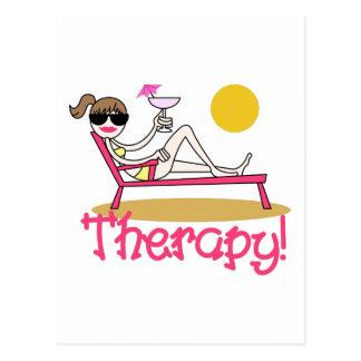 Therapie Postkarte