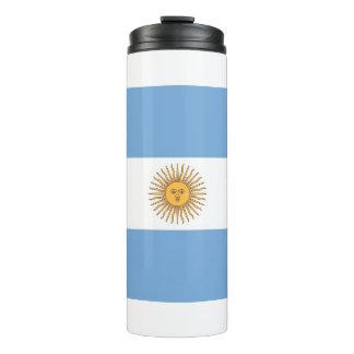 Thermische Trommel mit Flagge von Argentinien Thermosbecher