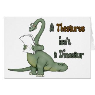 Thesaurus-Dinosaurier Karte