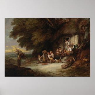 Thomas Gainsborough - die Hütten-Tür Poster
