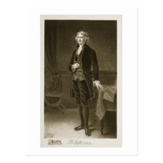 Thomas Jefferson, 3. Präsident des vereinigten Postkarte