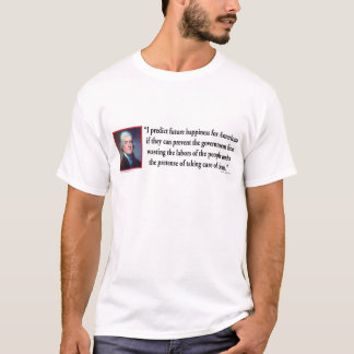 Thomas Jefferson auf amerikanischem Glück T-Shirt