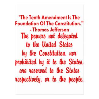 Thomas Jefferson auf der 10. Änderung Postkarte