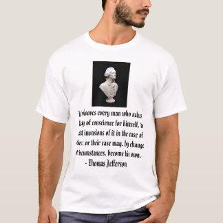 Thomas Jefferson auf Freiheit T-Shirt