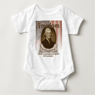 Thomas Jefferson - Freiheit Baby Strampler