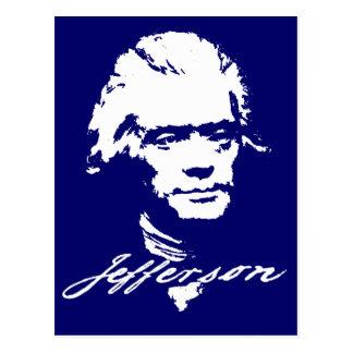 Thomas Jefferson in der weißen Farbe Postkarte