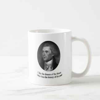 Thomas Jefferson mit Zitat Kaffeetasse