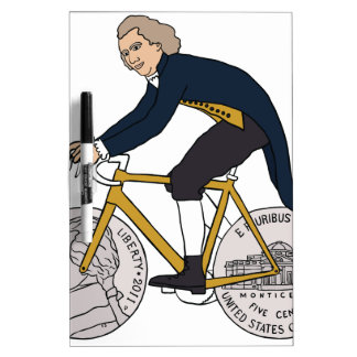 Thomas- Jeffersonreitfahrrad mit Nickel-Rädern Trockenlöschtafel