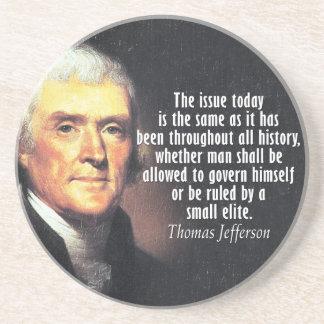 Thomas- Jeffersonzitat Getränkeuntersetzer