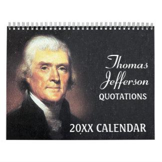 Thomas- Jeffersonzitate mit PräsidentenFoto Kalender