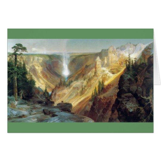 Thomas Moran - Grand Canyon des Yellowstone Grußkarte