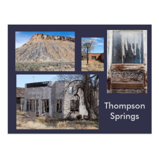 Thompson entspringt moderne Geisterstadt, Utah Postkarte