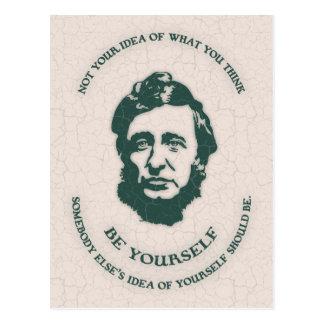 Thoreau - seien Sie sich Postkarte