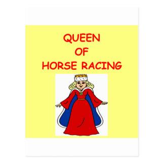 Thoroughbred-Pferderennen Postkarte