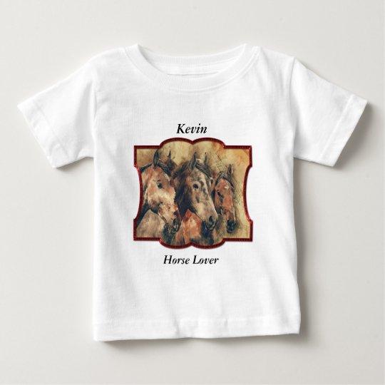 Thoroughbredpferde, die in ein Bündel laufen Baby T-shirt