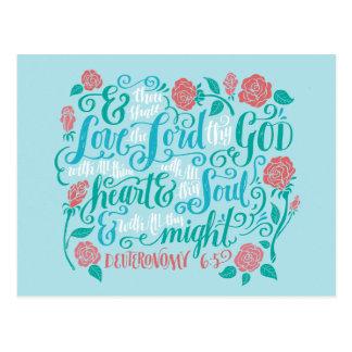 Thou Shalt Liebe der Lord thy Gott Postkarte