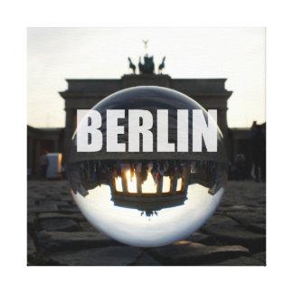Through the crystal ball, Brandenburg Gate Leinwand Druck