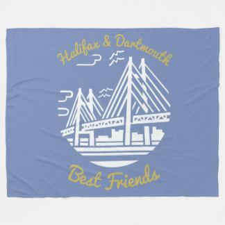 Throwblau Fleece bester Freunde Halifaxes