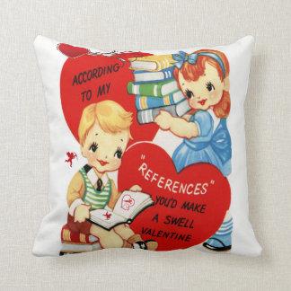 Throwkissen entkernen Vintage Valentines Kissen