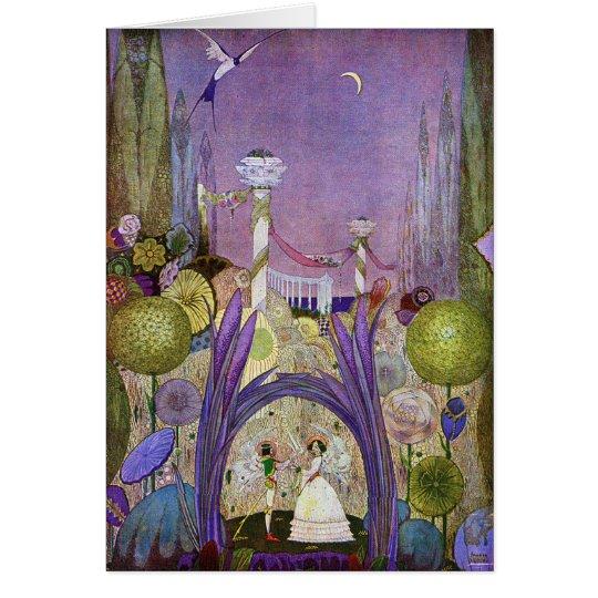 Thumbelina Märchen-Illustrations-Karte Grußkarte