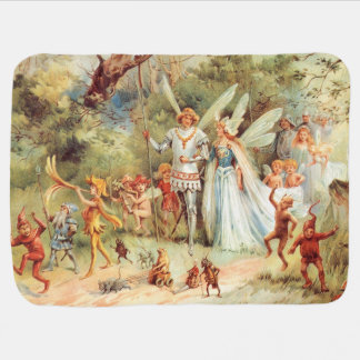Thumbelinas Hochzeit im Wald Babydecke