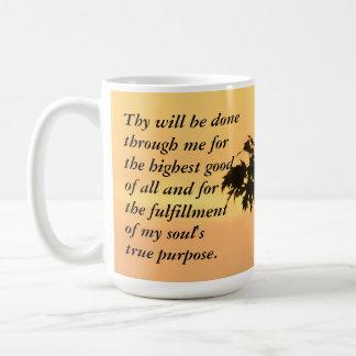 Thy seien Sie erfolgter… Sonnenuntergang Kaffeetasse