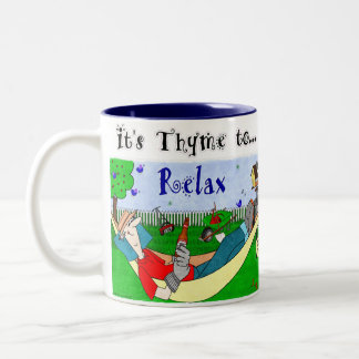 Thymian (Zeit) zum sich - von Ralphie zu Zweifarbige Tasse