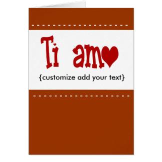 Ti-Amo-Karte Karte