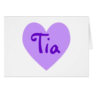 Tia in Lila Karte