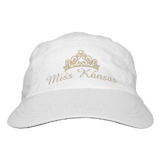 Tiara-Baseballmütze Miss Amerikas goldene Headsweats Kappe
