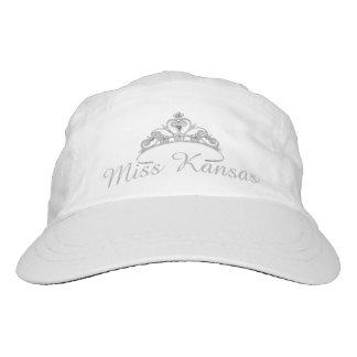 Tiara-Baseballmütze Miss Amerikas Silber-Graue Headsweats Kappe