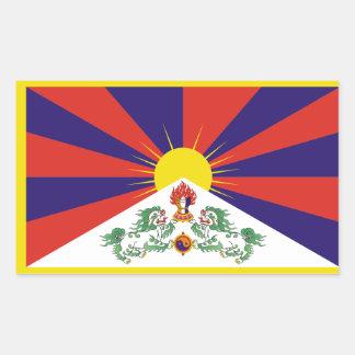 Tibet/tibetanische Flagge Rechteckiger Aufkleber
