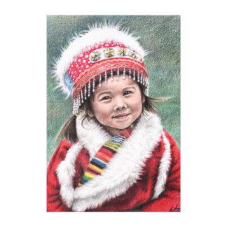 Tibetan Girl Leinwanddruck